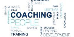 coaching text cloud